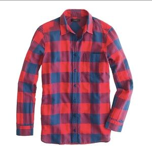 J.Crew Flannel Shirt in Red/Blue Buffalo Size 10